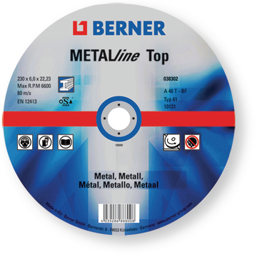 Disco de desbaste METALline Top, medidas 230x6x22,2 mm